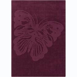 Hand-tufted Mandara Butterfly Wool Rug (7' x 10')