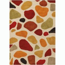 Hand-tufted Mandara New Pebbles Wool Rug (6'6 x 9'9)