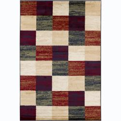 Mandara Contemporary Multi Geometric Polypropylene Rug (4' x 6')