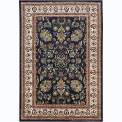 "Mandara Blue Traditional Oriental Rug (2'8"" x 4'7"")"
