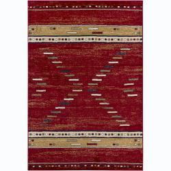Mandara Red Abstract Rug (4' x 6')