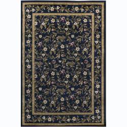 Mandara Blue Floral Rug (5'3 x 7'9)