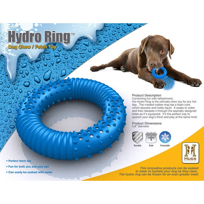 Blue Rubber Elephant Dog Toy