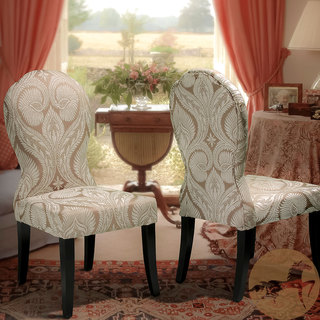 Christopher Knight Home Candida Floral Taupe Chenlle Dining Chairs (Set of 2)
