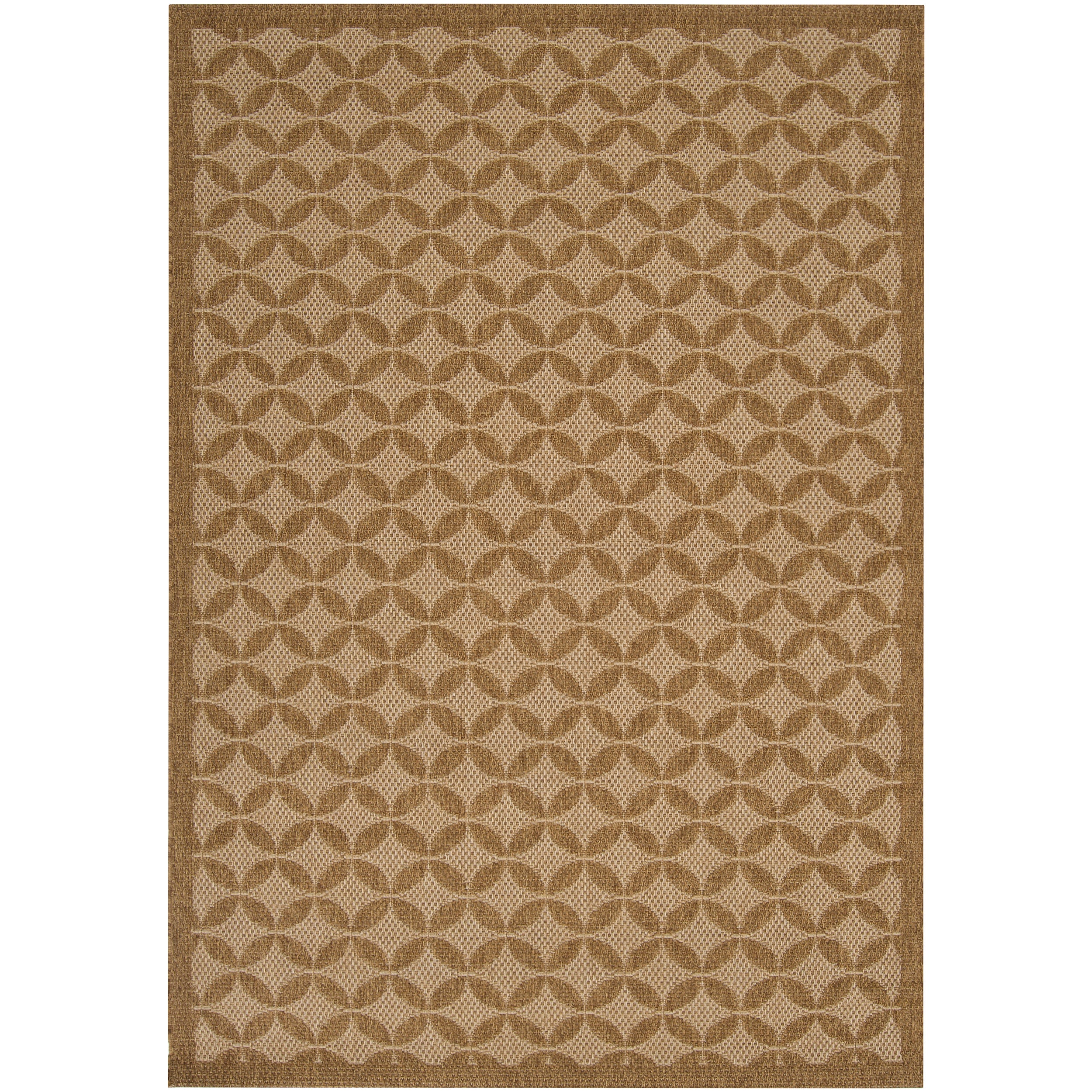 Woven Tan Indoor Outdoor Moroccan Tile Rug 3 11 x 5 7