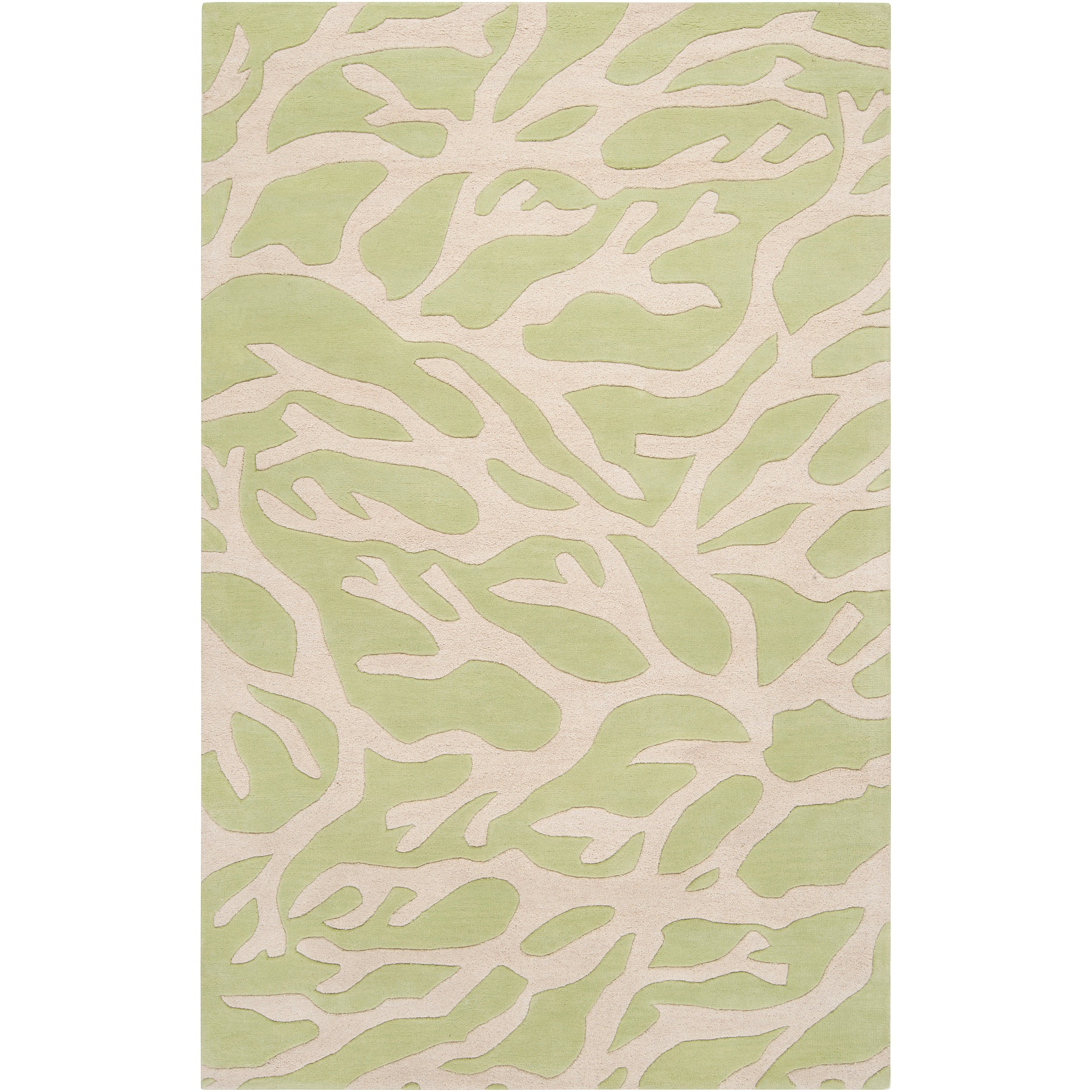 """Somerset Bay Hand-Tufted Casual Bacelot Bay Green Beach Inspired Wool Rug (3'3"""" x 5'3"""")"""