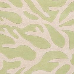 "Somerset Bay Hand-Tufted Casual Bacelot Bay Green Beach Inspired Wool Rug (3'3"" x 5'3"")"