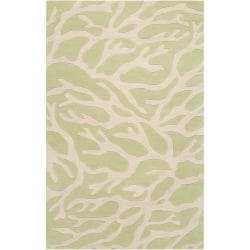 Somerset Bay Hand-Tufted Casual Bacelot Bay Green Beach Inspired Wool Rug (3'3