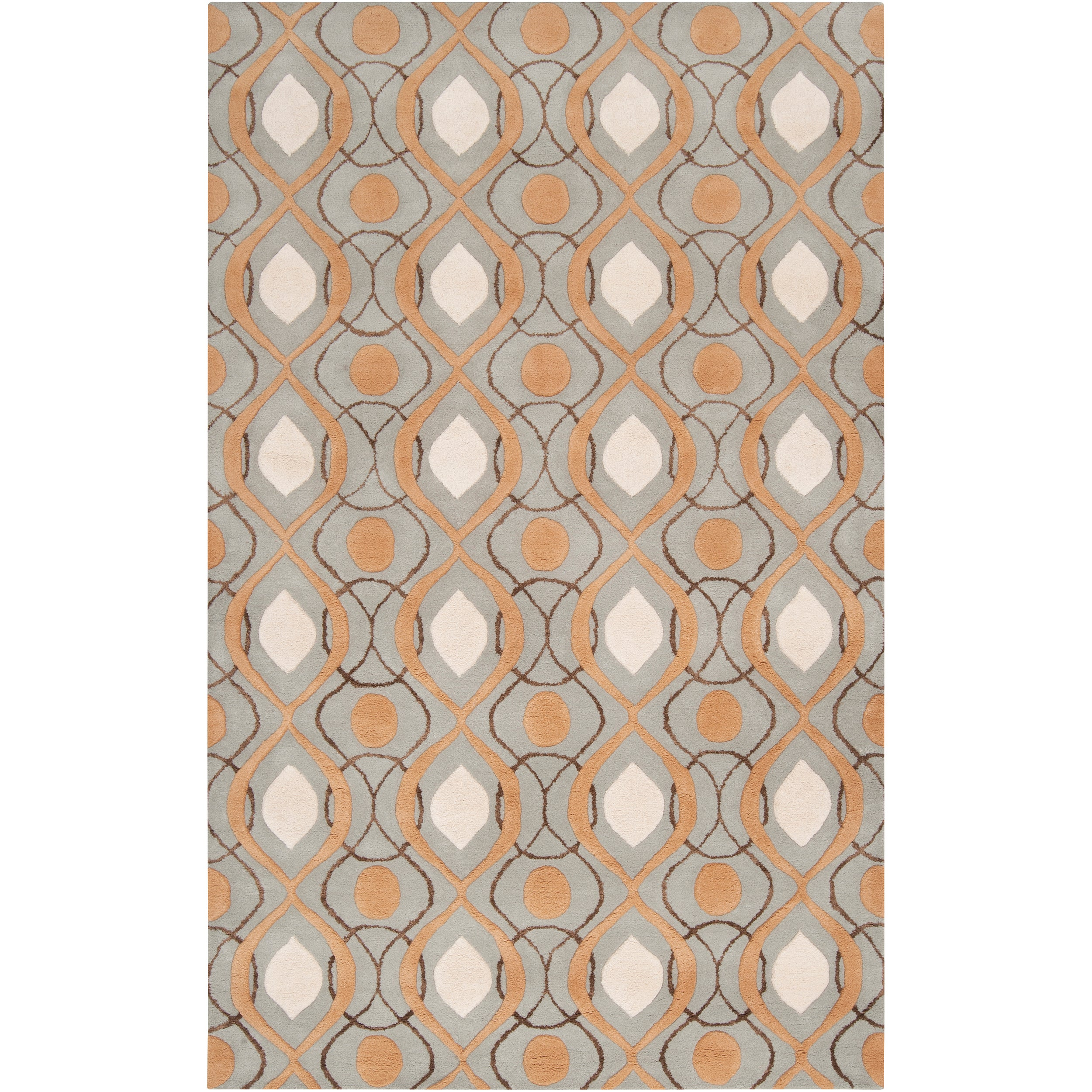 Candice Olson Hand-tufted 'Cane' Gray Moroccan Tile Pattern Wool Rug (3'3 x 5'3)