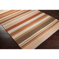 Hand-hooked Cladagh Tan Indoor/Outdoor Stripe Rug (9' x 12')