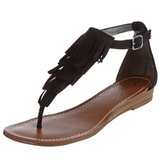 Carlos by Carlos Santana Women's Black 'Trinidad' Sandals