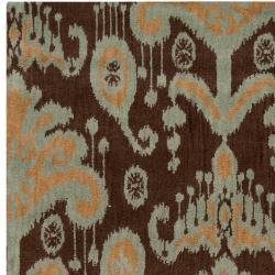 Hand-tufted B. Smith 'Mosse' Brown New Zealand Wool Rug (8' x 11')