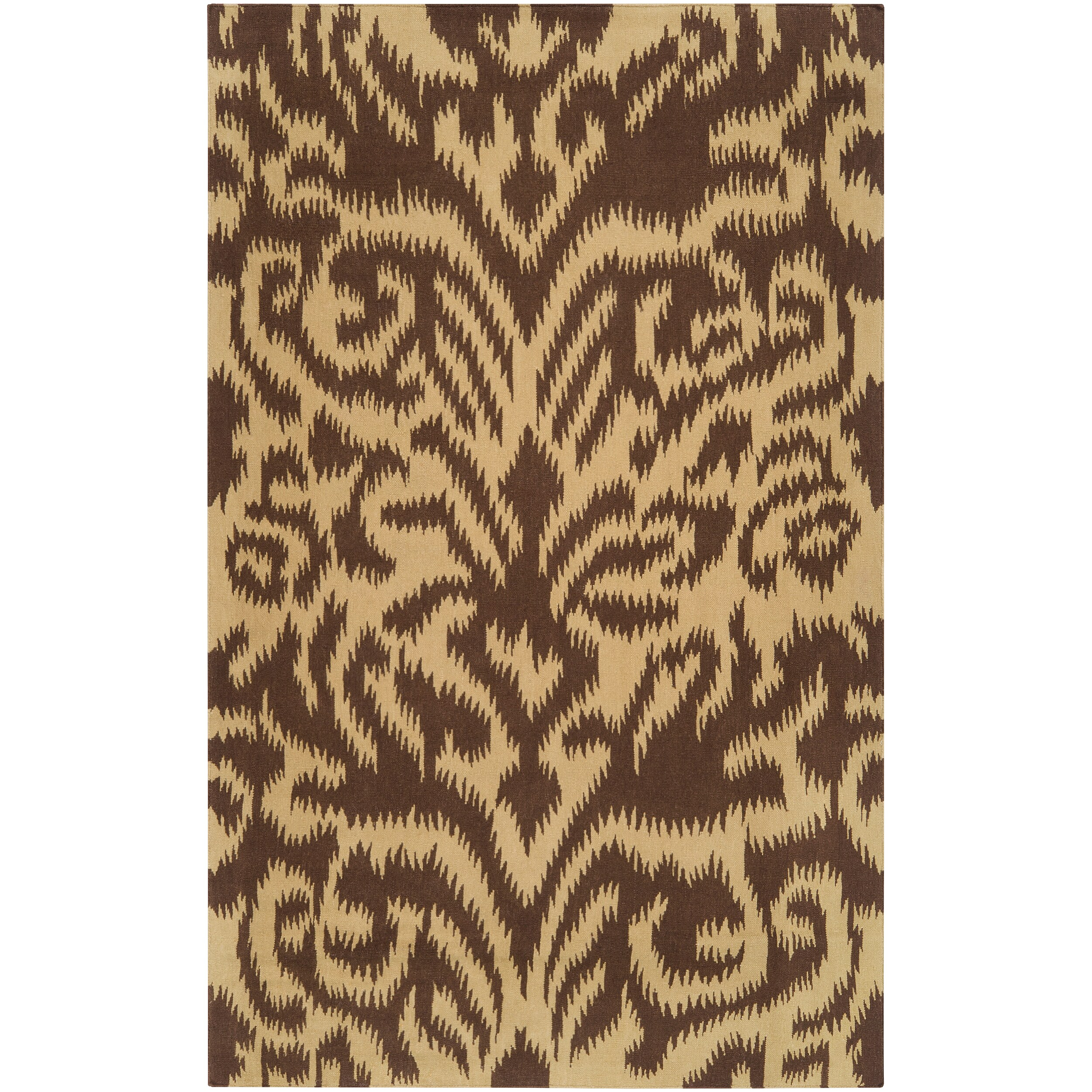 Hand-woven B. Smith 'Saged' Brown Wool Rug (3'3 x 5'3)