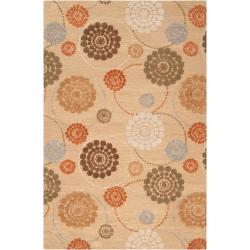 Hand-tufted Belle Towers Orange New Zealand Wool Rug (5' x 8')