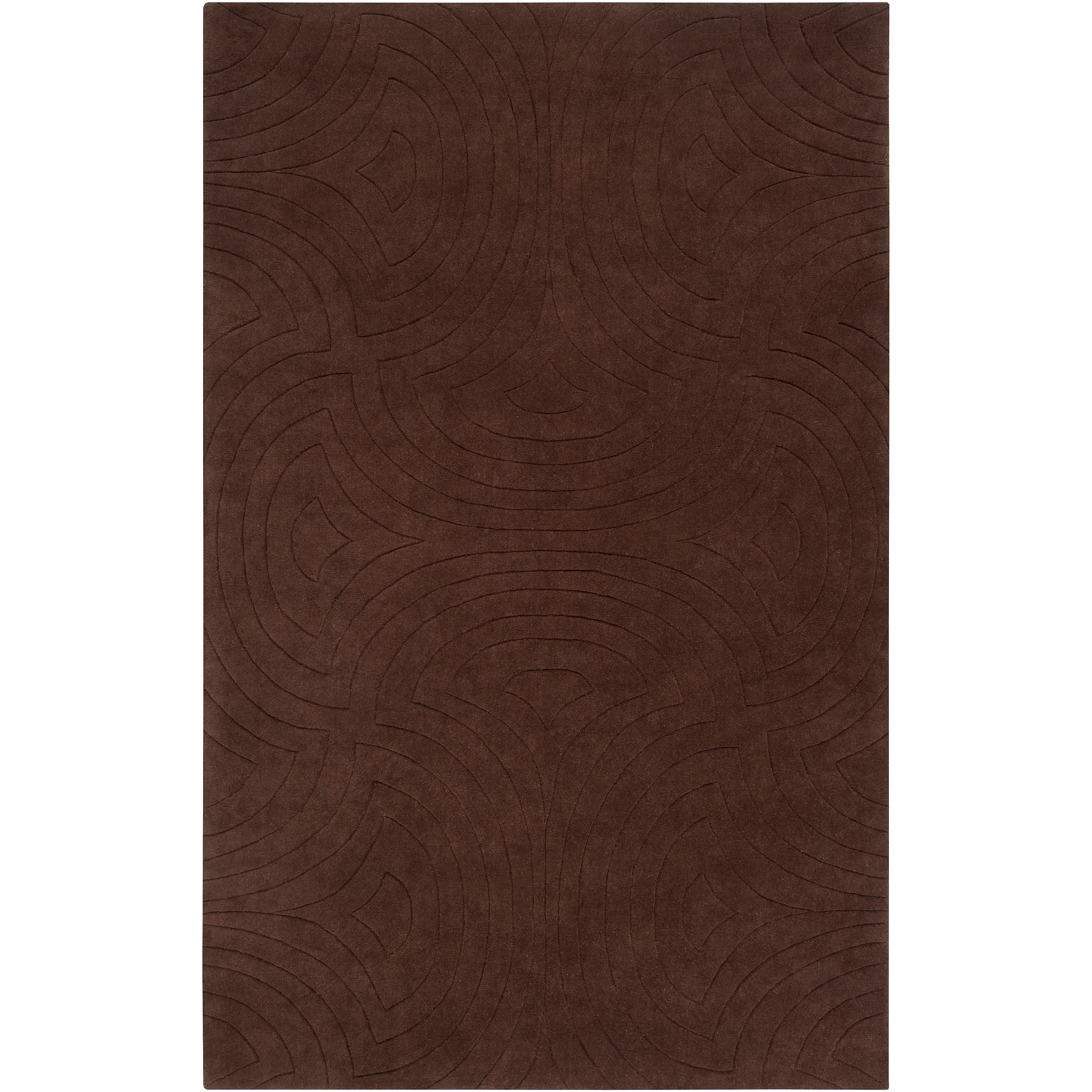 Candice Olson Loomed 'Scuddle' Brown Geometric Plush Wool Rug (9' x 13')