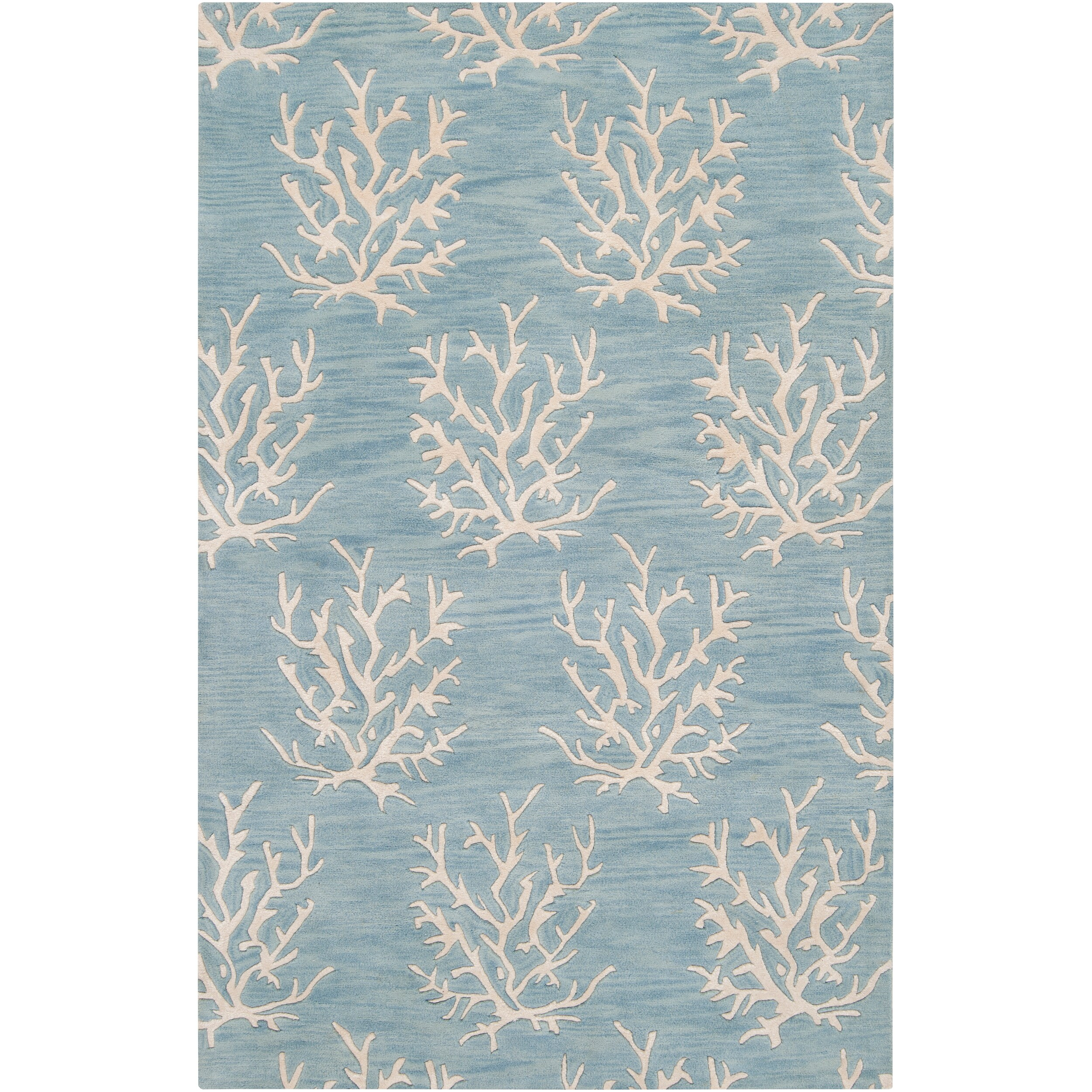 Somerset Bay Hand-Tufted Bacelot Bay Blue Beach-Inspired