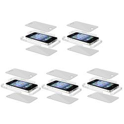 Full Body and Edge Screen Protector for Apple iPhone 4 AT&T (Set of 5)