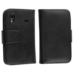 Leather Wallet Case/ Travel/ Car Charger for Samsung Galaxy Ace S5830