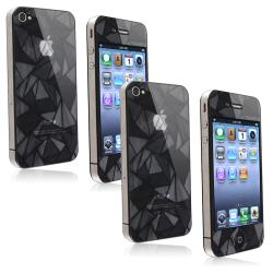 Front/ Back Diamond Screen Protector for Apple iPhone 4/ 4S (Set of 2)