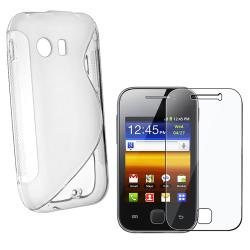 White TPU Case/ Screen Protector for Samsung Galaxy Y S5360