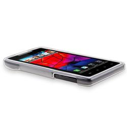 White TPU Case/ Screen Protector for Motorola Droid Razr