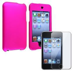 INSTEN Pink iPod Case Cover/ Screen Protector for Apple iPod Touch Generation 2/ 3