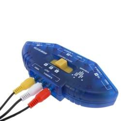 BasAcc 3-foot Blue/ Black 3 to 1 Composite AV Switch with RCA Cable