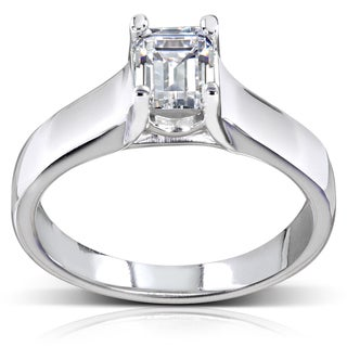 Annello 14k Gold 1ct TDW Diamond Solitaire Engagement Ring (H-I, SI1-SI2)