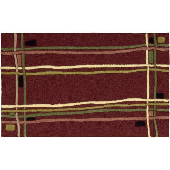 Nourison Textures Kitchen Red Rug (2'3 x 3'9)