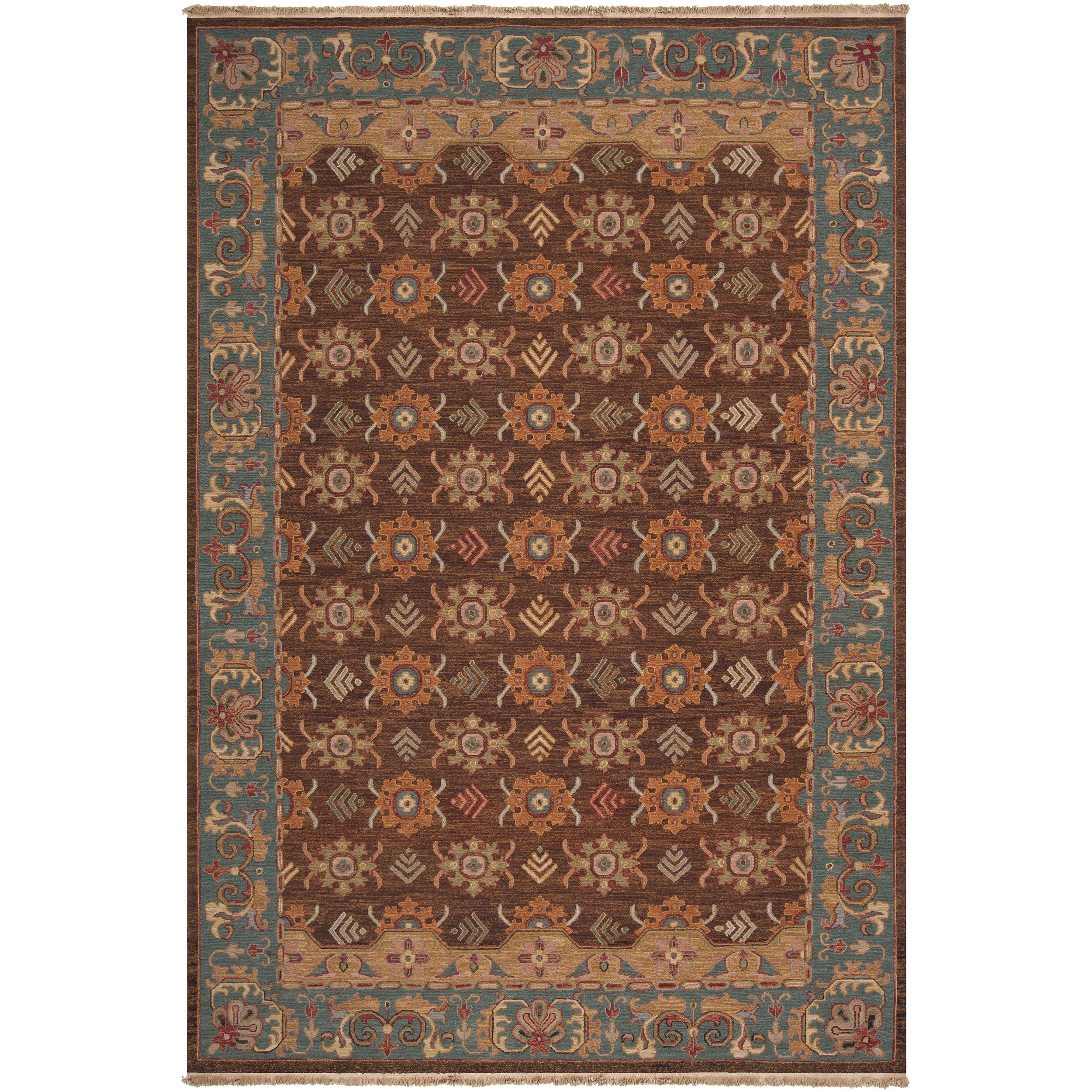 ... Rugs 6 X 9 By Hand Knotted Brown Smokehouse E New Zealand Wool Rug 6 X  ...