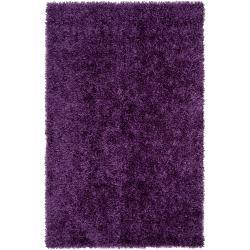 Hand-woven Purple Ferta Soft Shag Rug (8' x 10')