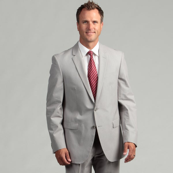 Kenneth Cole New York Cotton Slim Fit Grey Pincord Suit Separate Coat