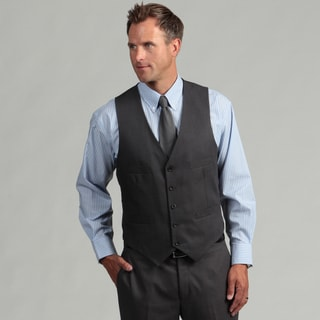 Kenneth Cole Reaction Men's Slim Fit Solid Grey Suit Separate Vest