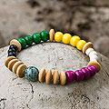 Jade 'Life's Journeys' Pine and Palo Blanco Wood Bracelet (Guatemala)
