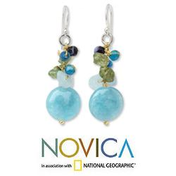 Sterling Silver 'Azure Joy' Multi-gemstone Earrings (Thailand)