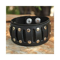 Leather Men's 'New Age' Bracelet (Thailand)