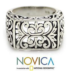 Men's Sterling Silver 'Emperor' Ring (Indonesia)