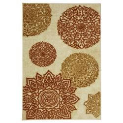 Mandarin Star Neutral Rug (5' x 8')