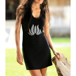 Rayon 'Lotus Flames in Black' Dress (Indonesia)