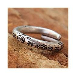 Men's Silver 'Karen Mystique' Wrap Ring(Thailand)