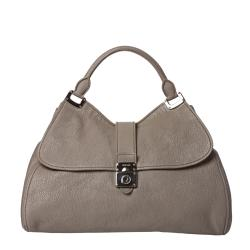 Miu Miu Taupe Leather Satchel Bag
