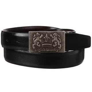 English Laundry Men's Black Brown Reversible Belt