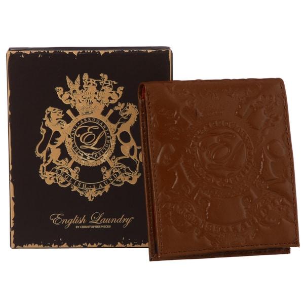 English Laundry Men's Cognac Bi-fold Wallet