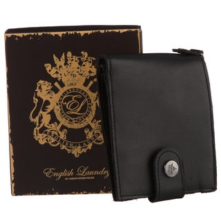 English Laundry Men's Black Snap Closure Wallet