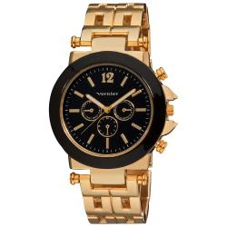 Vernier Women's Faux Chrono Pattern Bracelet Quartz Gold-Tone Watch