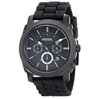 16. Fossil Men's FS4487 Machine Chronograph Black Stainless Steel Watch