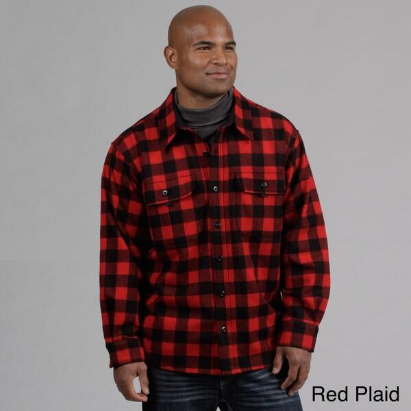 Minus33 Men's 'White Mountain' Plaid Merino Wool-blend Expedition Weight Sportsman Shirt