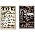 'Dining Words' and 'Kitchen Words' Kitchen Wall Plaques