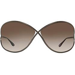 Tom Ford 'Miranda 36F' Shiny Bronze Metal Sunglasses