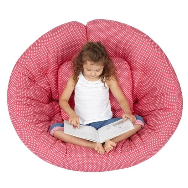 Scoop Pink Dot Futon Chair
